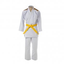 Kimono Judô Trançadinho Krav Sports Branco Infantil