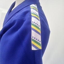 Kimono trançado infantil  Azul